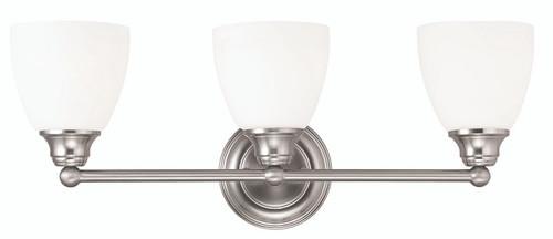 Livex Oldwick Modern Brushed Nickel 3 Light Bathroom: LIVEX Lighting 13663-91 Somerville Bath Light In Brushed
