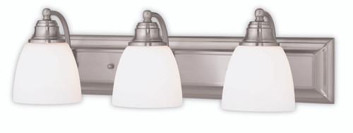 Livex Oldwick Modern Brushed Nickel 3 Light Bathroom: LIVEX Lighting 10503-91 Springfield Bath Vanity In Brushed