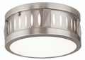 LIVEX Lighting 65506-91 Vista Flushmount in Brushed Nickel (2 Light)