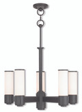 LIVEX Lighting 52105-92 Weston Contemporary Dinette Chandelier in English Bronze (5 Light)