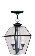 LIVEX Lighting 2285-04 Westover Outdoor Chain Lantern in Black (2 Light)
