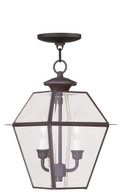LIVEX Lighting 2285-07 Westover Outdoor Chain Lantern in Bronze (2 Light)