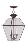 LIVEX Lighting 2385-07 Westover Outdoor Chain Lantern in Bronze (3 Light)