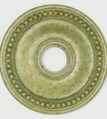 LIVEX Lighting 82074-28 Wingate Ceiling Medallion with Hand-Applied Winter Gold