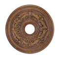 LIVEX Lighting 8200-30 Ceiling Medallion in Crackled Greek Bronze