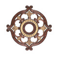 LIVEX Lighting 8216-63 Ceiling Medallion in Verona Bronze with Aged Gold Leaf Accents