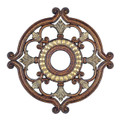 LIVEX Lighting 8216-64 Ceiling Medallion in Palacial Bronze with Gilded Accents