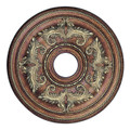 LIVEX Lighting 8200-64 Ceiling Medallion in Palacial Bronze with Gilded Accents