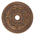 LIVEX Lighting 8210-30 Ceiling Medallion in Crackled Greek Bronze
