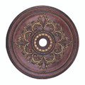 LIVEX Lighting 8211-63 Ceiling Medallion in Verona Bronze with Aged Gold Leaf Accents