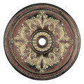 LIVEX Lighting 8228-64 Ceiling Medallion in Palacial Bronze with Gilded Accents