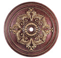 LIVEX Lighting 8229-63 Ceiling Medallion in Verona Bronze with Aged Gold Leaf Accents