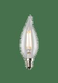 Luminance L7588-1 Set of 6 LED Candelabra Flame Tip Filament Lightbulbs