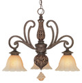 Classic Lighting 71157 TS Riviera Wrought Iron Chandelier in Tortoise Shell
