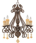 Classic Lighting 71155 TS Riviera Wrought Iron Chandelier in Tortoise Shell