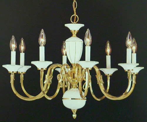 Classic Vintage French 55 Square Two Tier Brass Glass: Classic Lighting 6828 Traditional Chandelier In Polished