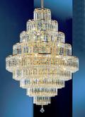 Classic Lighting 1604 G SC Ambassador Crystal Chandelier in 24k Gold