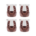 POMEROY 621222-S4 Horse Shoe Set of 4 Votives