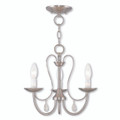 LIVEX Lighting 40863-91 Mirabella Chandelier in Brushed Nickel