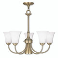 LIVEX Lighting 6465-01 Ridgedale Dinette Chandelier in Antique Brass