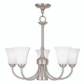 LIVEX Lighting 6465-91 Ridgedale Dinette Chandelier in English Bronze