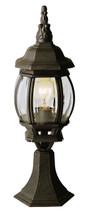 "Francisco 20.5"" Outdoor Black Gold Tuscan Postmount Lantern"