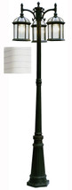 """Wentworth 79"""" Outdoor White Traditional Pole Light"""