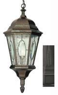 "Villa Nueva  21"" Outdoor Black Spanish Hanging Lantern"