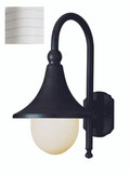 "Promenade 18"" Outdoor White Transitional  Wall Lantern"