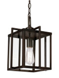 "Eastwood 12"" Indoor Rubbed Oil Bronze Industrial Pendant with Open Box Contemporary Design"