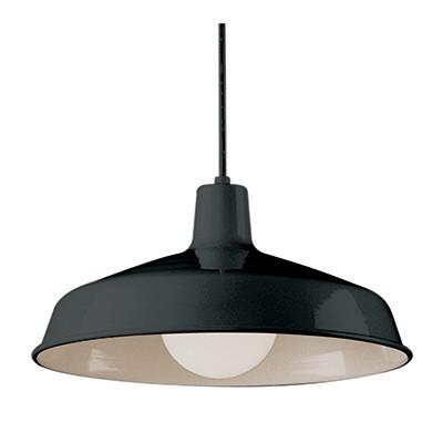 """Sherman 15.5"""" Indoor Black Industrial Pendant"""