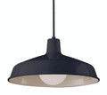 "Sherman 15.5"" Indoor Black Industrial Pendant"