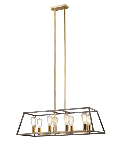 "Adams 35"" Long Indoor Rubbed Oil Bronze Transitional Pendant"