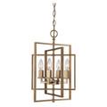 "El Capitan 14"" Indoor Antique Gold Industrial Pendant with Intricate Metal Design"