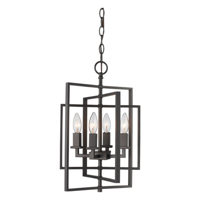 """El Capitan 14"""" Indoor Rubbed Oil Bronze Industrial Pendant with Intricate Metal Design"""