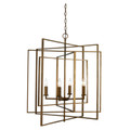 "El Capitan 26"" Indoor Antique Gold Industrial Pendant with Intricate Metal Design"