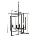 "Empire 26"" Indoor Rubbed Oil Bronze Industrial Pendant with Abstract Metal Design"