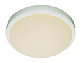 "Bliss 15"" Indoor White Traditional Flushmount with White Frost Glass Shade"