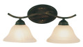 "Hollyslope 17"" Indoor Rubbed Oil Bronze Traditional Vanity Bar with Marbelized Glass Bell Shaped Shades"