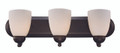"Clayton Collection 24"" Indoor Rubbed Oil Bronze Traditional Vanity Bar with Marbalied Glass and Matching Oval Wall Plate"