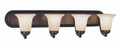 "Rusty 30"" Indoor Rubbed Oil Bronze Traditional Vanity Bar"