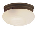 "Dash 10"" Indoor Rubbed Oil Bronze Traditional Flushmount with Opal Glass Globe Shade"