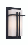 "12"" Outdoor Black Contemporary Pocket Lantern with Rectangular Cross Bar Details"
