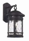"16.25"" Outdoor Black Nautical Wall Lantern with Decorative Hook Ring Accent"