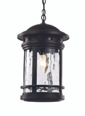 "19"" Outdoor Black Nautical Hanging Lantern with Included Hanging Chain"