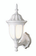 "Hamilton 19"" Outdoor White Traditional Wall Lantern with Classic Landscaping Light Asthetics"
