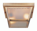"Samantha 5"" Outdoor Polished Brass Traditional Flushmount Lantern"