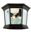 "San Marcos 6.5"" Outdoor Black Traditional Flushmount Lantern"