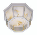 "Angelus 6.5"" Outdoor White Traditional Flushmount Lantern with Clear Beveled Glass"