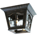 "Briarwood 8"" Outdoor Antique Rust Flushmount Lantern with Traditional Scalloped Window Panes"